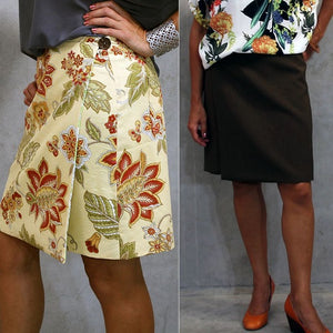 Easy wrap skirt sewing pattern