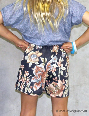 Skort PDF sewing pattern - back