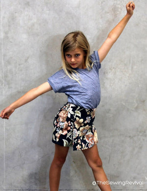 Skort PDF sewing pattern- side