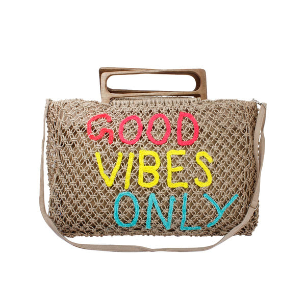 Good vibes beach bag