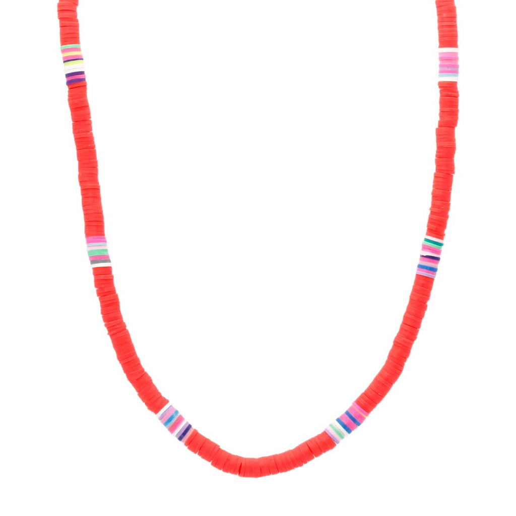Red Clay Beads Choker Necklace Boom & Mellow | Fashion Accessories | Necklace