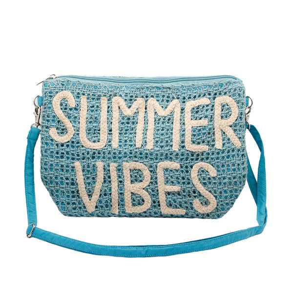 Summer vibes turquoise clutch bag