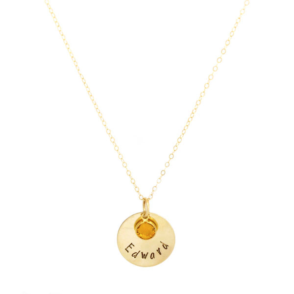 18k gold filled personalized single name necklace