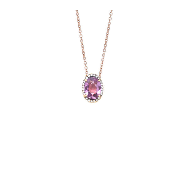 18K Rose Gold Pink Sapphire Pendant Necklace | Selim Mouzannar |Fine Jewelry | Necklace