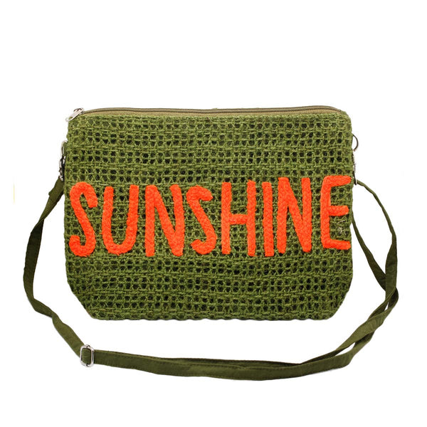 Sunshine green clutch bag