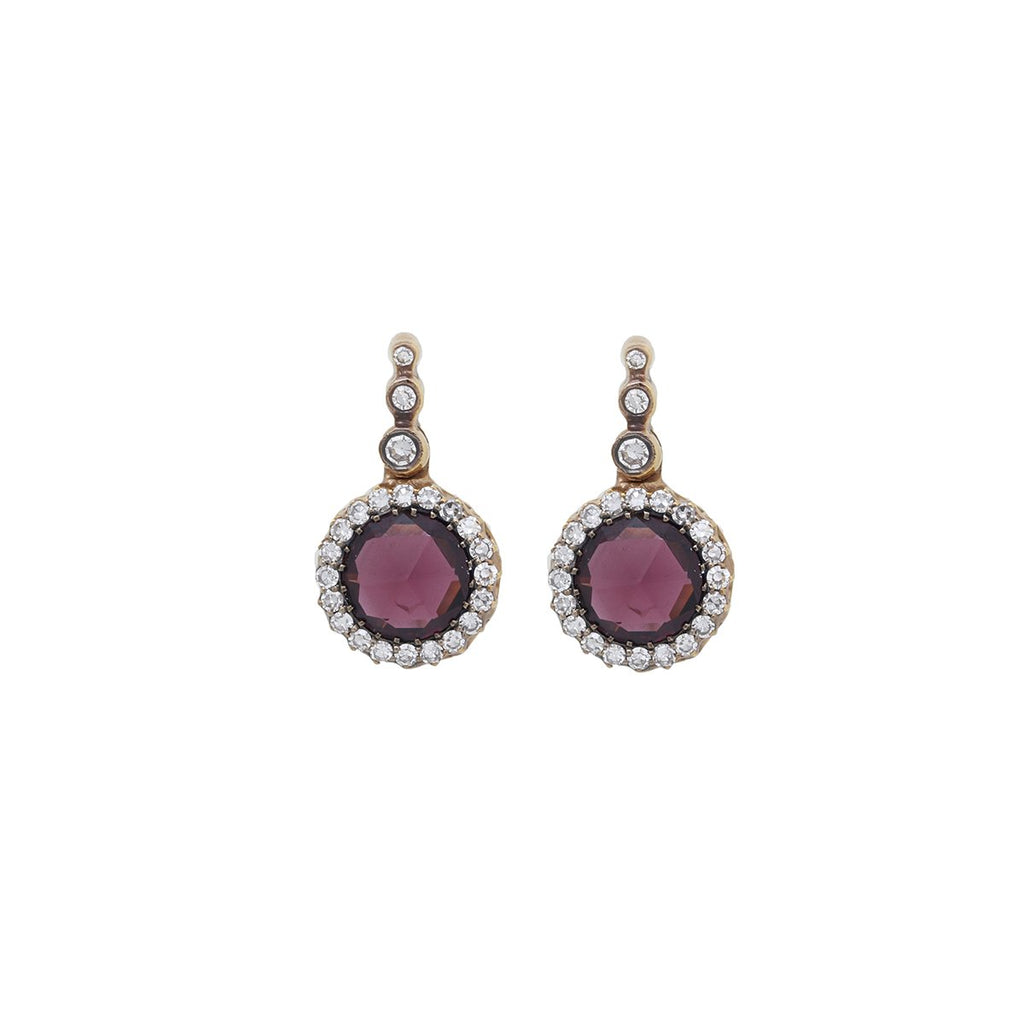 18K Rose Gold Rhodolites Earrings | Selim Mouzannar |Fine Jewelry | Earrings