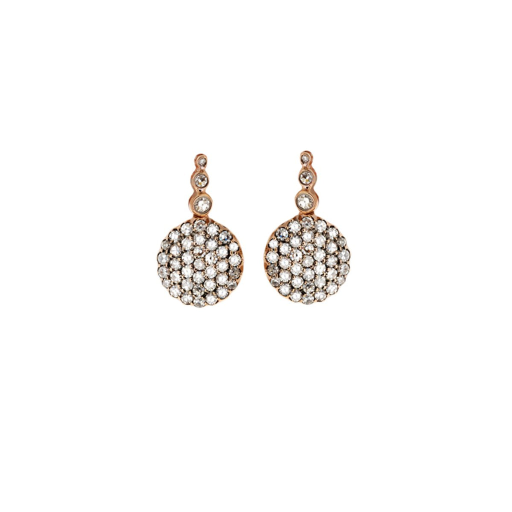 18K Rose Gold Set Of Diamonds Earrings | Selim Mouzannar |Fine Jewelry | Earrings