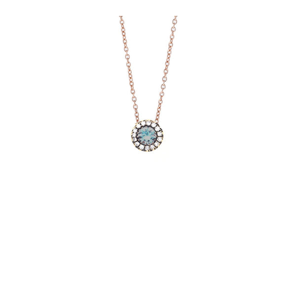 18K Rose Gold Aquamarine Necklace | Selim Mouzannar |Fine Jewelry | Necklace