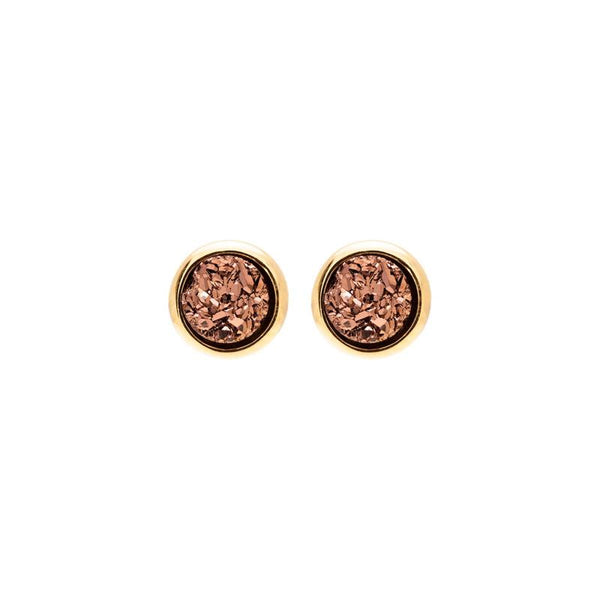 Lil Round Rose Gold Earrings | Sonya Renee | Fashion Accessories | Earrings | Boom and Mellow Dubai