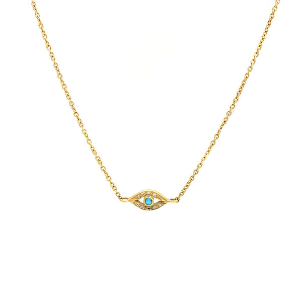 18K Gold Evil Eye Necklace | Nada Le Cavelier | Fine Jewelry | Necklace