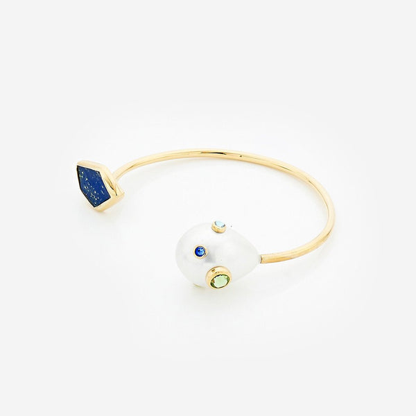 Pasha lapis front open cuff, Boom and Mellow Dubai