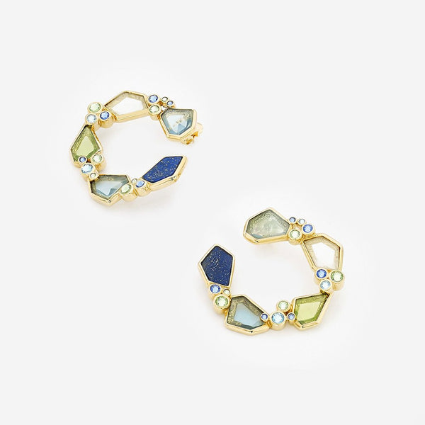 Pasha lapis orange p  earrings, Boom and Mellow Dubai