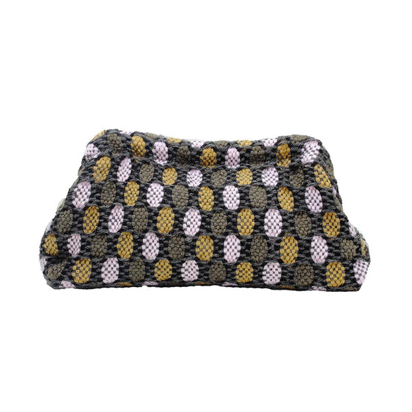 Maria La Rosa Clutch Bag, Boom and Mellow Dubai Ladies bag, vague, small, handwoven, fabric, 100% wool, lining 100% viscose,