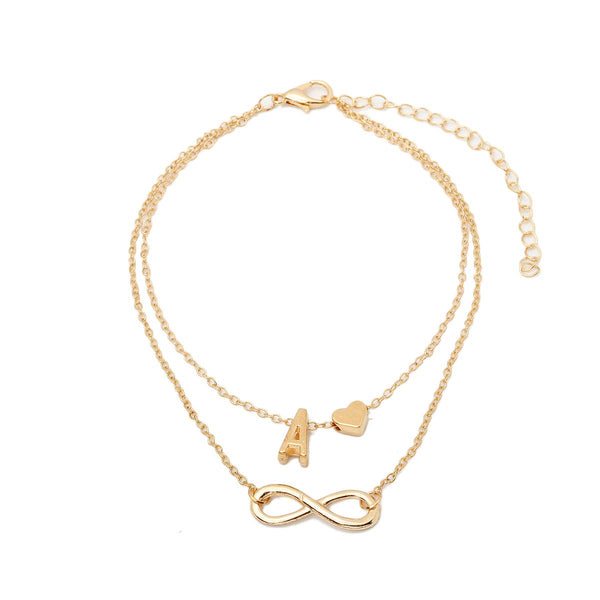 Initial infinity anklet