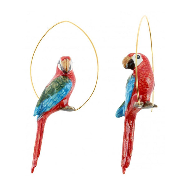 Red Parrot Earrings |Nach Bijoux |Fashion Accessories
