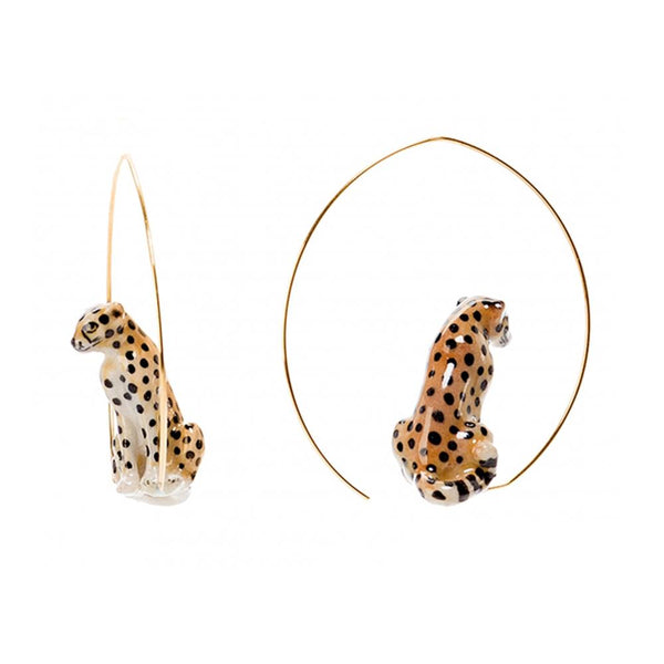 Sitting Cheetah Earrings |Nach Bijoux |Fashion Accessories