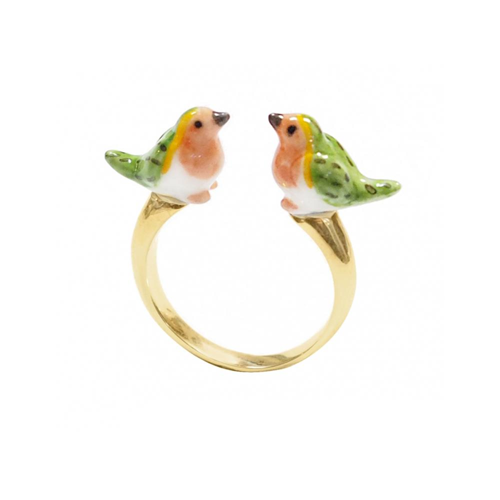Robin Bird Face To Face Ring |Nach Bijoux |Fashion Accessories