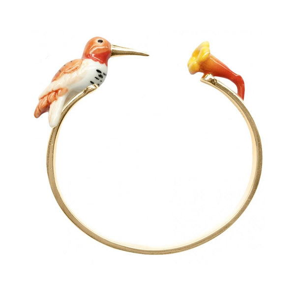 Orange Humming Bird Bracelet |Nach Bijoux |Fashion Accessories