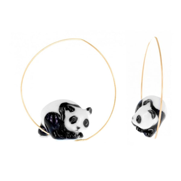 Panda Earrings |Nach Bijoux |Fashion Accessories