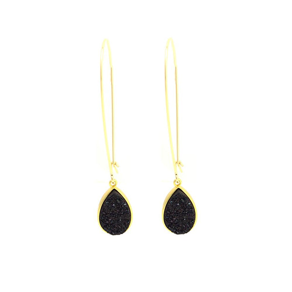 Bailey Black Druzzy Earrings | Sonya Renee | Fashion Accessories | Earrings | Boom and Mellow Dubai