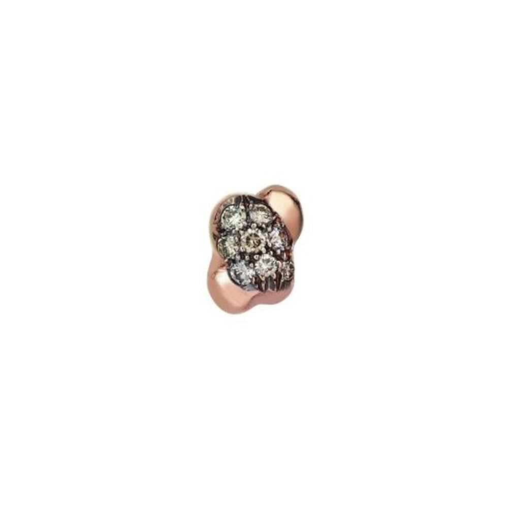 14K Rose Gold Meteorite Single Stud Earring, Kismet by Milka