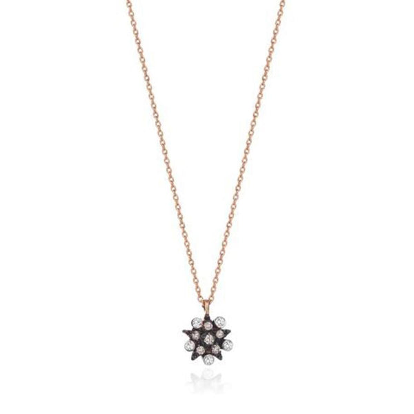 14K Rose Gold Eclectic  Medium Star Necklace, Kismet by Milka
