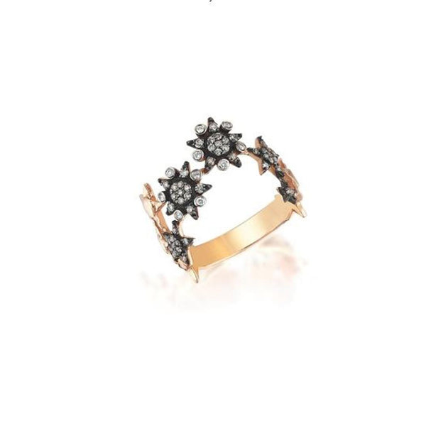 14K Rose Gold Single Row Ring, Kismet by Milka