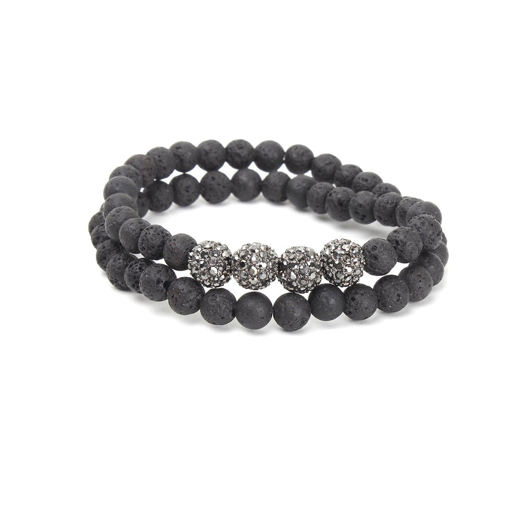Black Lava Beads Wrap Bracelet | OMG | Fashion Accessories | Bracelet