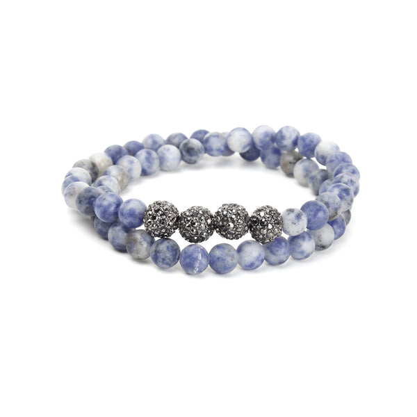 Blue Agate Beads Wrap Bracelet | OMG | Fashion Accessories | Bracelet