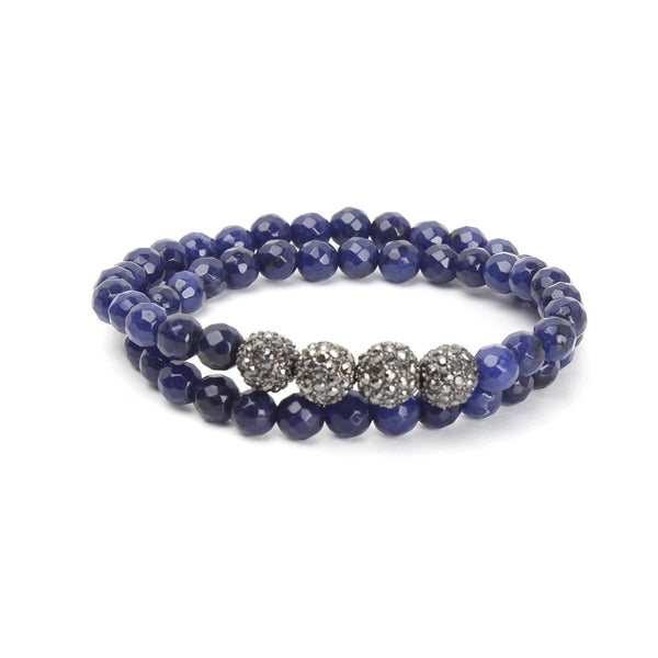 Lapis Beads Wrap Bracelet | OMG | Fashion Accessories | Bracelet