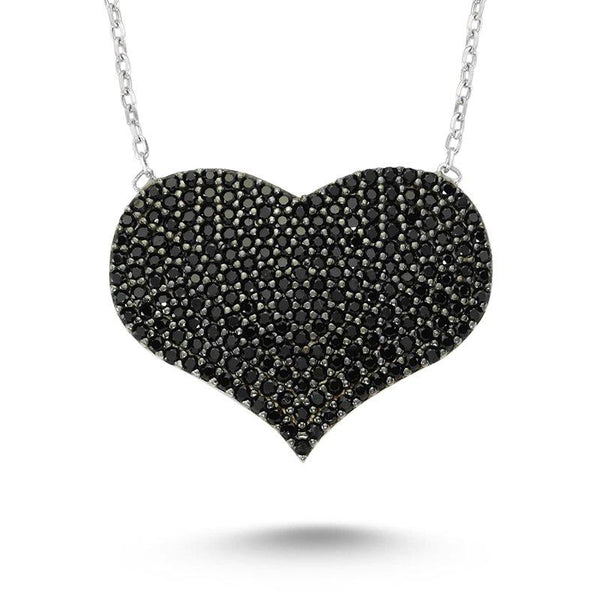Shop Online Black Heart Necklace | Amorium | Fashion Accessories