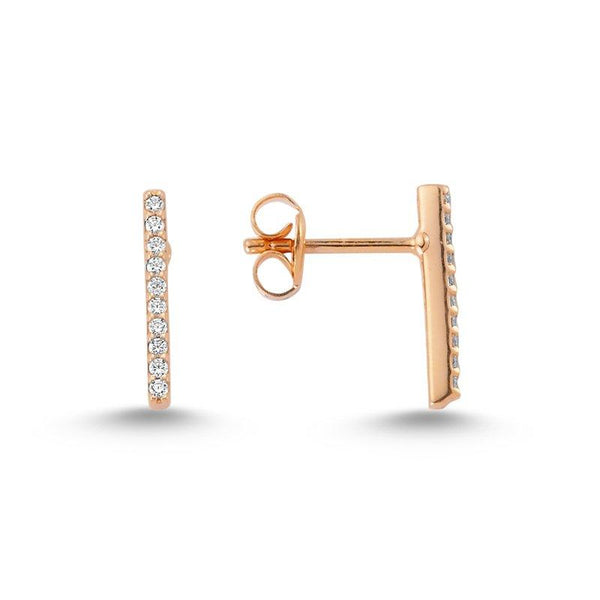 Shop Online White Bar Earrings | Amorium | Fashion Accessories