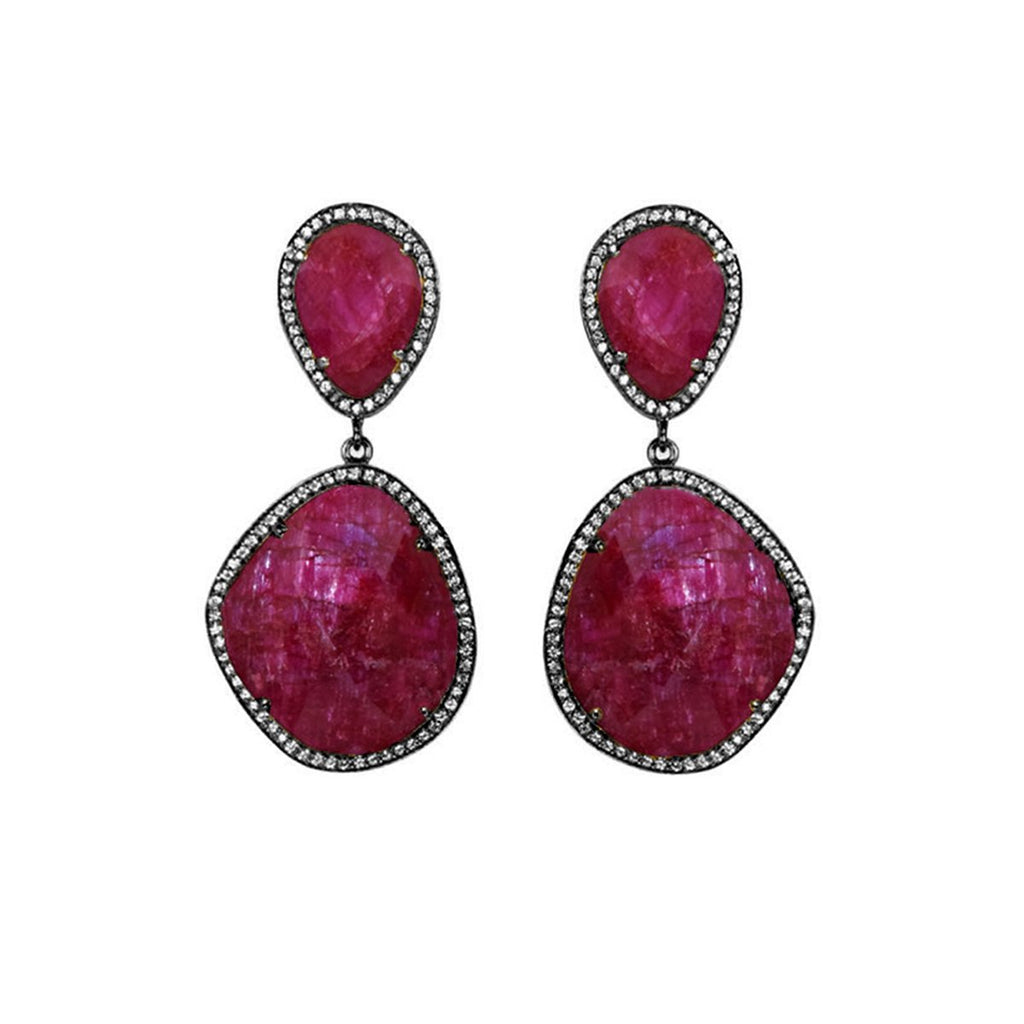 Ruby Oversized Earrings | Susan Hanover | Fashion Accessories
