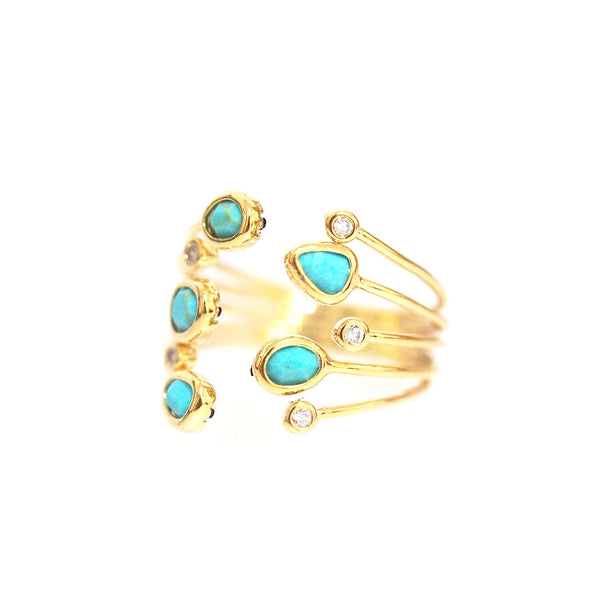 Multi Turqiouse Stone Ring | Tai | Fashion Accessories