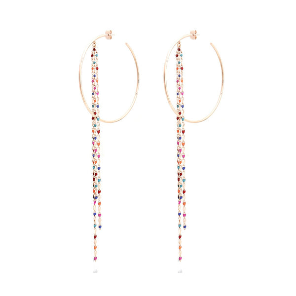 Earring Pop Part Hoop Rose |Cloverpost | Fashion Accessories |Necklace