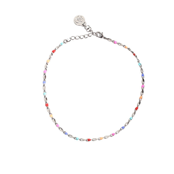 Anklet Pop Gunmetal Bright |Cloverpost | Fashion Accessories |Anklet