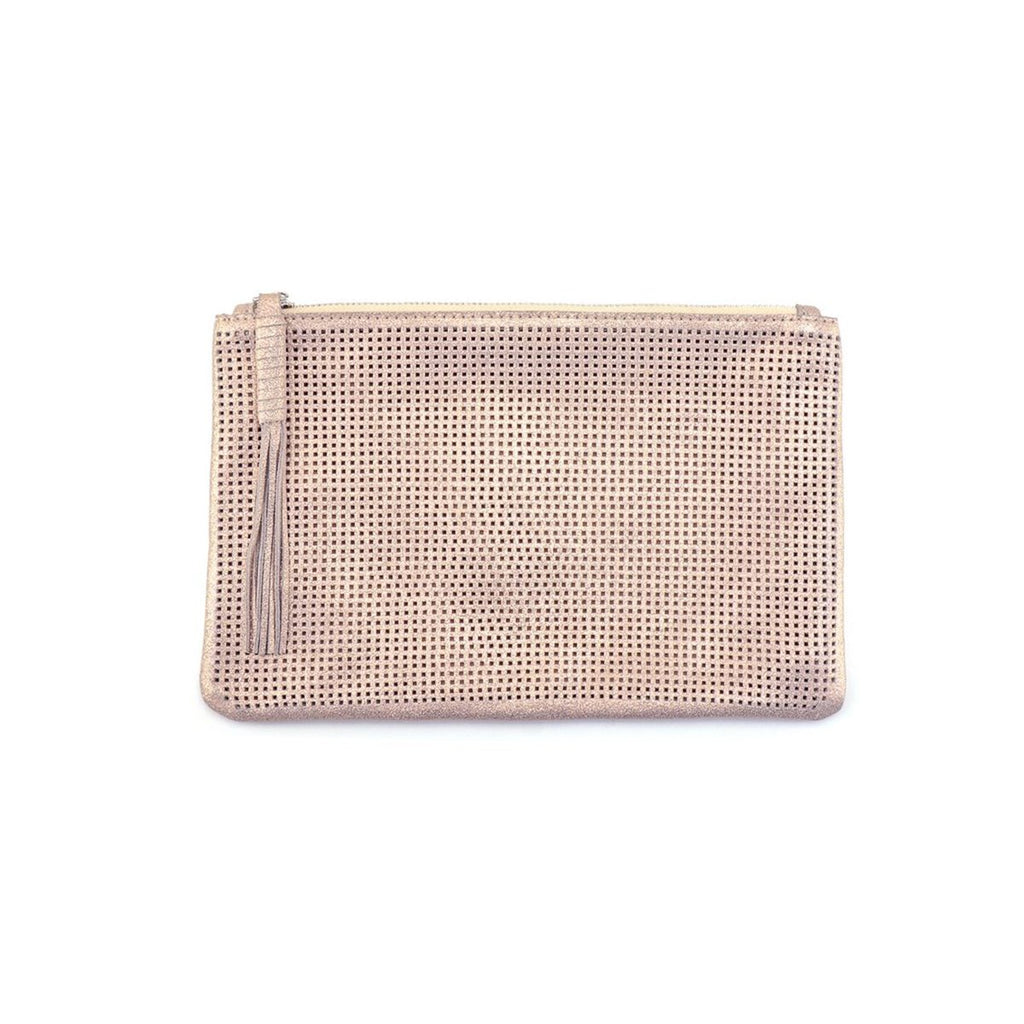 Rose Gold Shimmer Pouch | Monserat De Lucca | Bag | Tote Bag