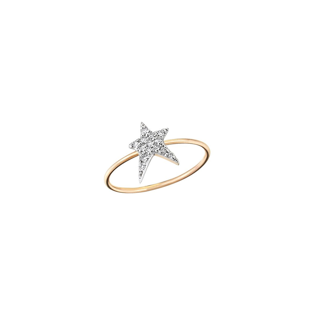 14K Rose Gold Large Struck Ring  | Kismet by Milka | Fine Jewelry Rings