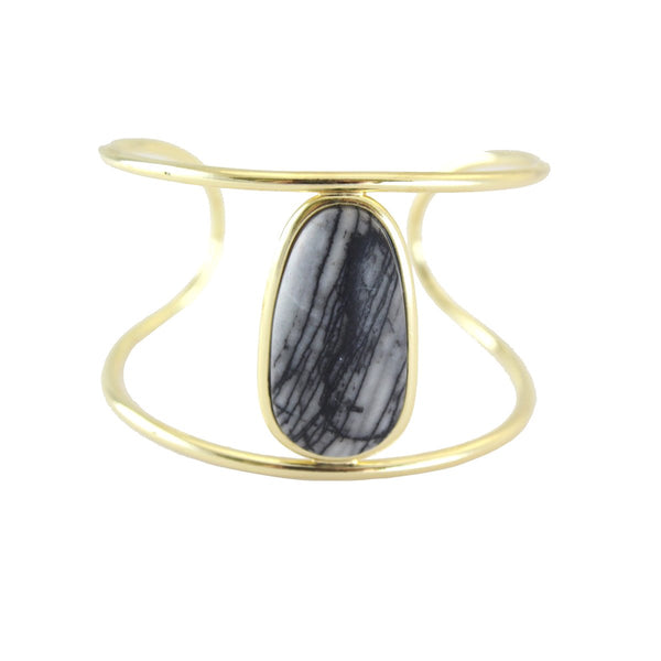 Vertical rounded cuff bracelet | Marcia Moran | Fashion Accessories Bracelet