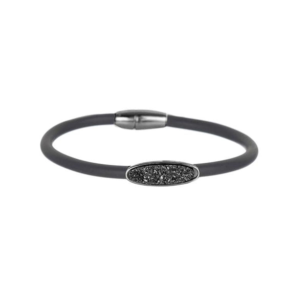 Black rubber bracelet | Marcia Moran | Fashion Accessories Bracelet
