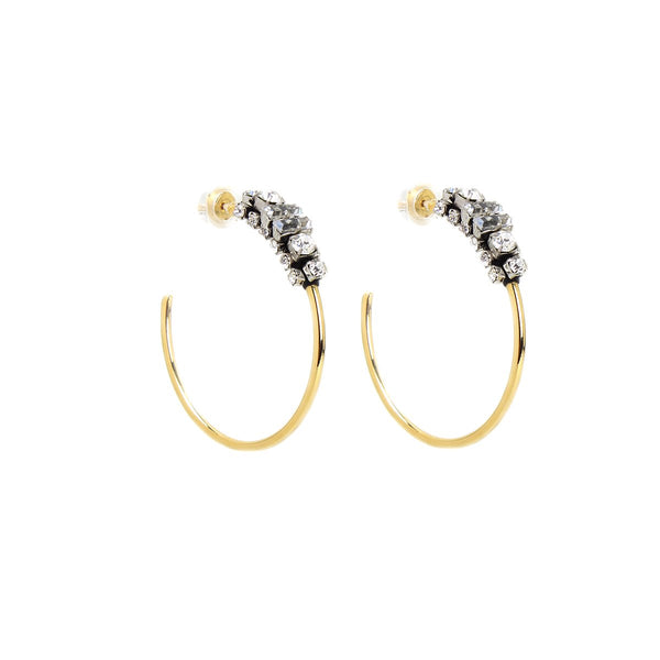 Hoops Jewel Earrings | Rada |Fashion Accessories | Earrings