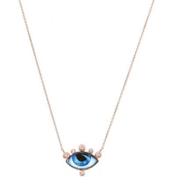 14K Rose Gold Petite Juane Eye Necklace | Lito | Fine Jewelry Necklace