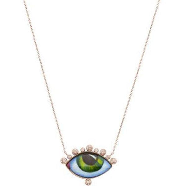 14K Rose Gold Russe Juane Eye Necklace | Lito | Fine Jewelry Necklace