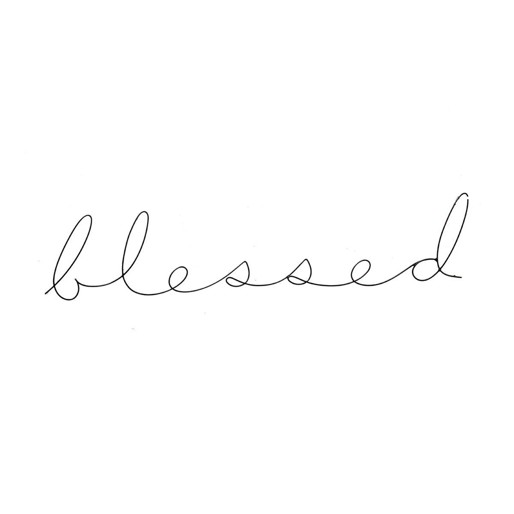 Blessed Large Poetic Word | Gauge | Wall Decor | Home Accessories