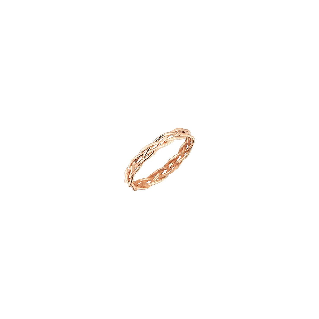 14K Rose Gold Knit Ring | Kismet by Milka | Fine Jewelry Ring