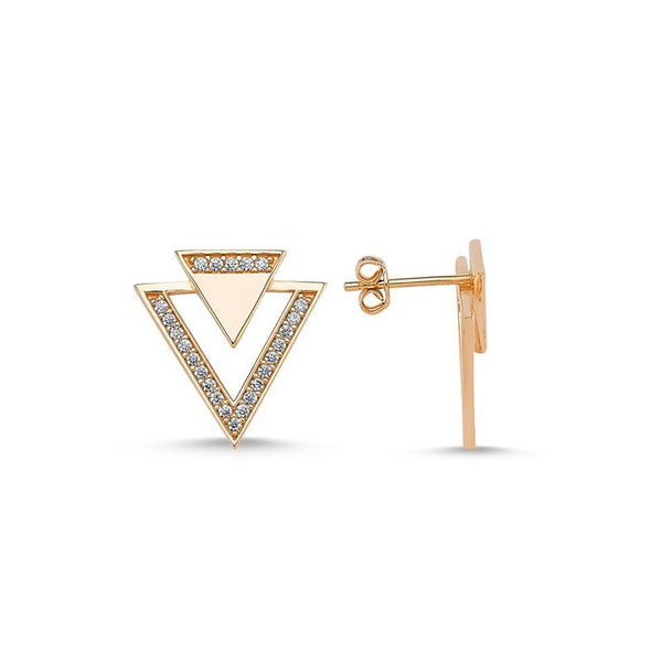 Geometrical Triangle Stud Earrings | Amorium | Fashion Accessories | Earring