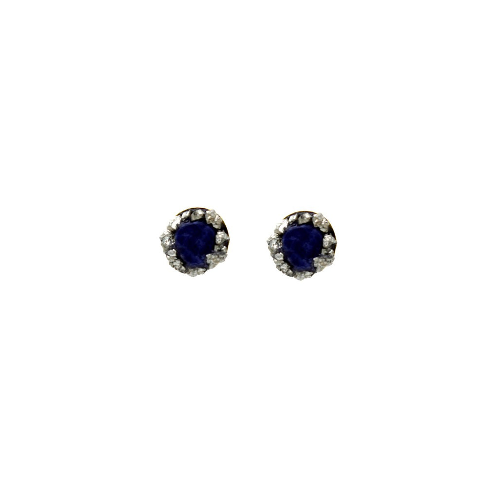 Lapiz Lazuli Stone Studs Earrings | Marly Moretti | Fashion Accessories | Earrings