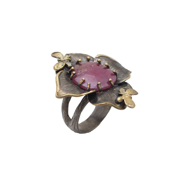 Flower With Two Butterfly Ring | B & M | Fashion Accessories | Rings
