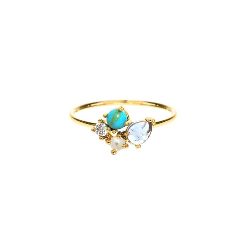 Turquoise Cluster Ring | Tai | Fashion Accessories | Ring