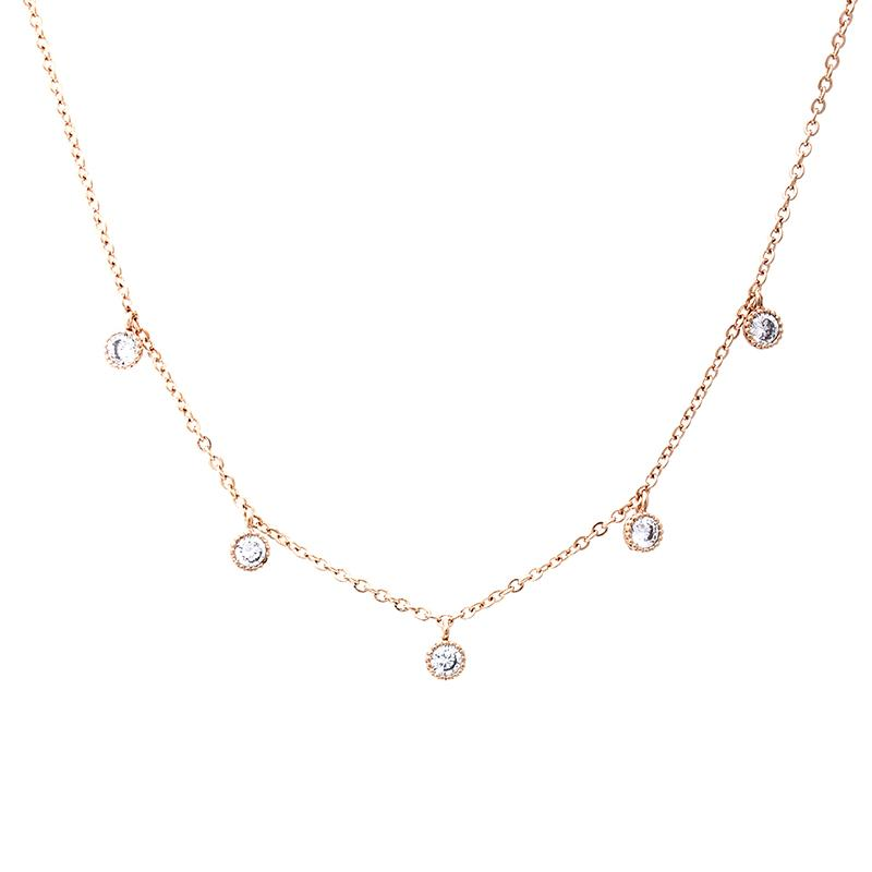 Five Round Cubic Zirconia Necklace | B & M | Fashion Accessories | Necklace